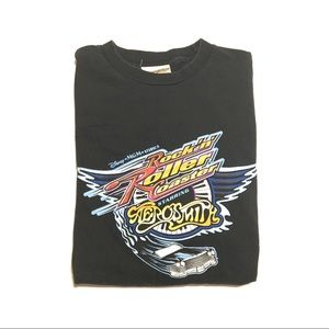 VTG 90s Aerosmith disney roller coaster t-shirt